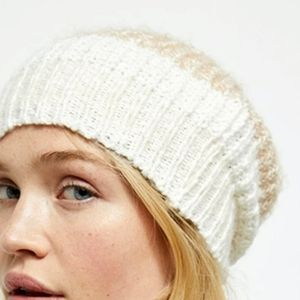 Free people cozy in stripes beanie toque hat